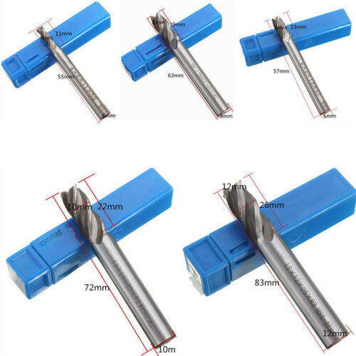 5pcs CNC End Mill Cutter Milling Machine HSS Straight Shank Drill Bit 4 Flute