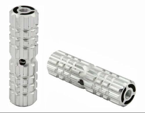 "Chrome Alloy Pegs BIKE FOOT PEG PEGS 3//8/"" 3//8 AXLE 24T OR 26T Chrome 4 1//2/"" long"
