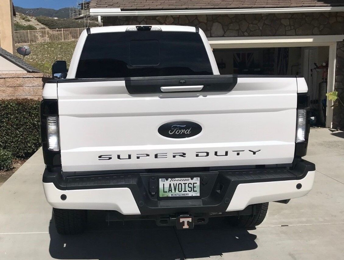 2017 F250 Smoked Tail Lights Oem Non Blis Non Led Tinted