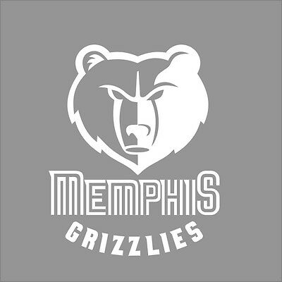 Memphis Grizzlies NBA Team Logo 1Color Vinyl Decal Sticker Car Window Wall