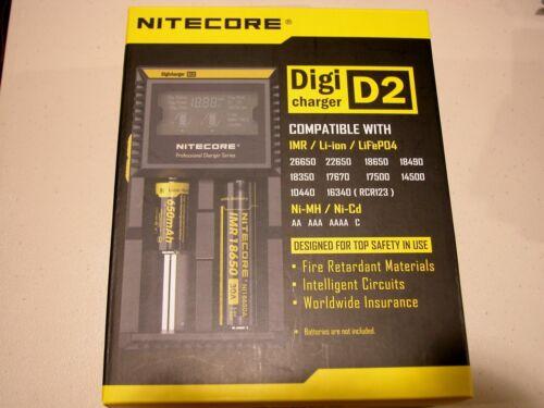 NITECORE D2 Digi charger w// 2 Sony 18650 VTC4 2100mAH 30a battery