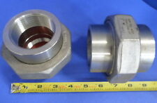 """ASP USA A182 F304 2"""" 3M  SS 304 OA3436C SP83 HEAVY DUTY COUPLING NNB, LOT OF 2"""