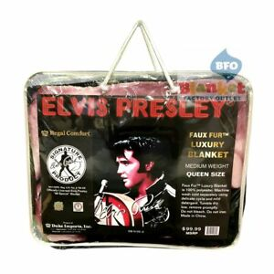 Elvis-Presley-Portrait-68-Comeback-Queen-Size-Blanket-79-034-x-96-034-NEW