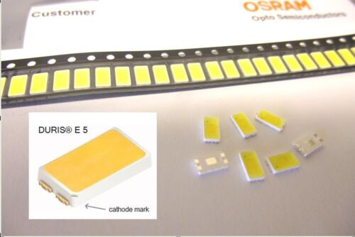 Pk of 10 Osram Opto DURIS E5 Series White LED 2700K 120 ° 4-Pin