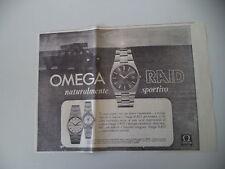 advertising Pubblicità 1973 OROLOGIO OMEGA RAID