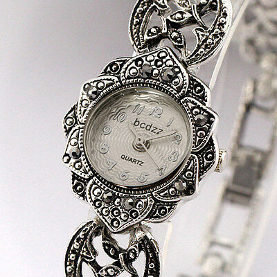 Brand New Aphrodite Women's Luxury Bracelet Wrist Watch Silver Sunflower Shaped