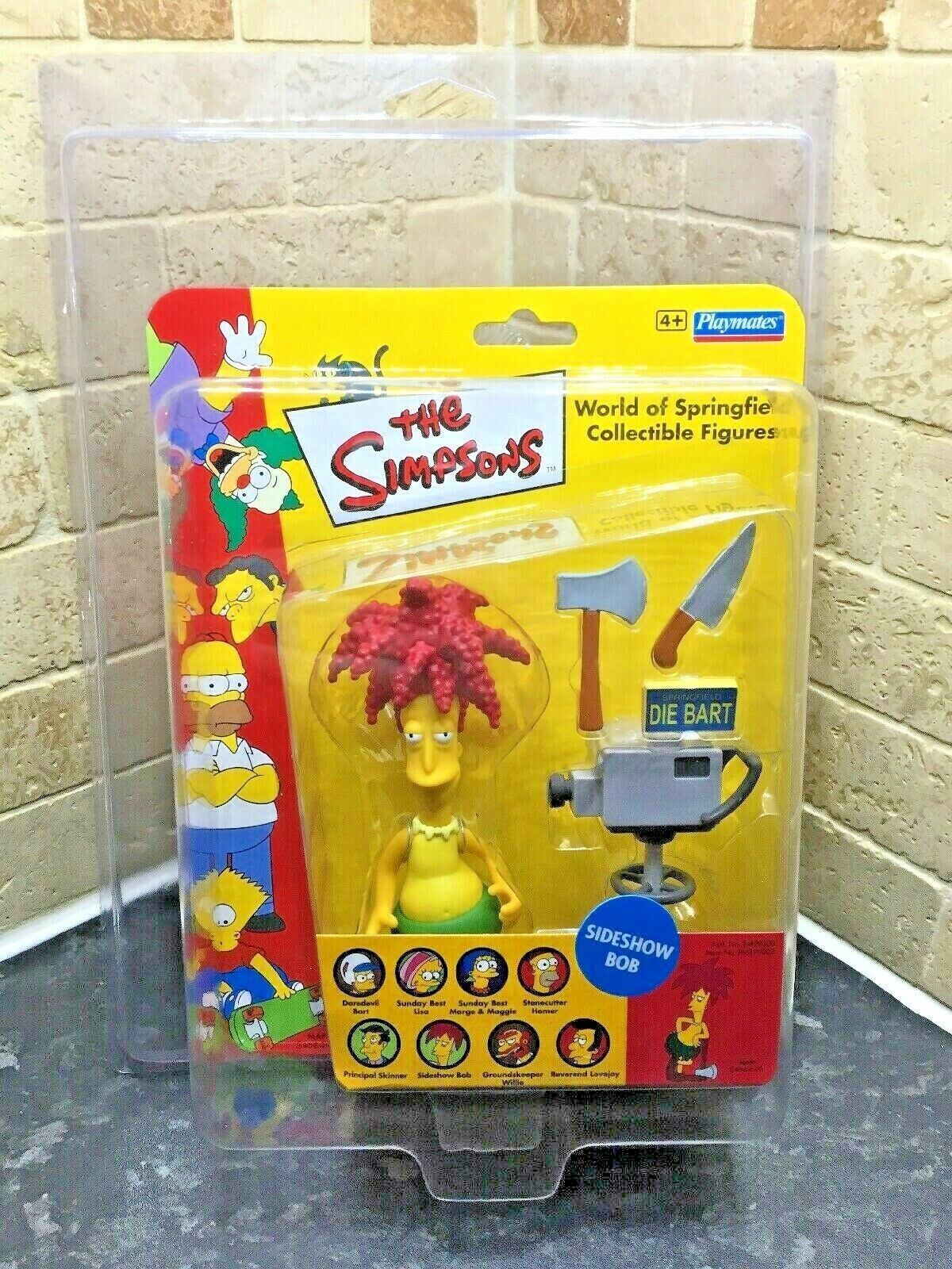 UK Exclusive The Simpsons Sideshow Bob WOS Figure World Of Springfield in case