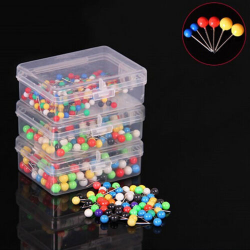 100x Dress Wedding Craft Pearl Round Head Straight Sewing Needle Pins Corsage NP
