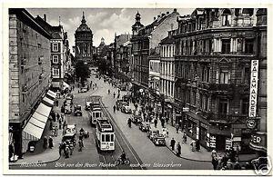 30er-Jahre-Foto-AK-Mannheim-Blick-von-den-Neuen-Planken-nach-dem-Wasserturm
