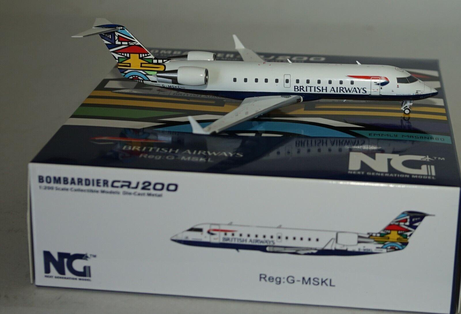 NG Model 52029 Bombardier CRJ-200LR British Airways G-Mskl in 1 200