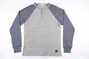 Henley De Neuf C85168 Bleu Closed Clair Gris Sport Xl Pull Vêtement Hommes xwq0B