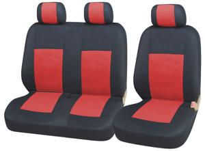 2x Vordere Sitzbezüge Schonbezüge 2+1 Neu Rot Schwarz für  Toyota seat