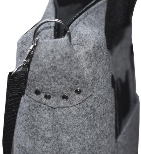 extra leichte Hand Umhänge Schultertasche Filz 2 Känguru Katzen Handmade
