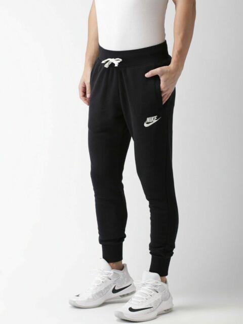 Nike Men's Athletic Pants Heritage Joggers Sweats Sweatpants Black Size Large L