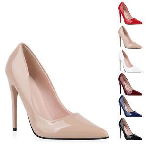 Details zu Damen Pumps High Heels Stiletto Schuhe Lack Absatzschuhe 898233 Modatipp