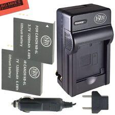 BM 2X NB-6L NB-6LH Batteries & Charger for Canon SX280 HS SX500 IS SX510 HS
