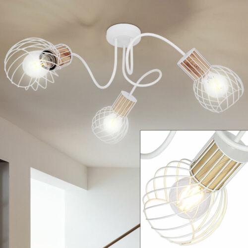 Retro Rondell Decken Lampe Küchen Beleuchtung Käfig Strahler Flur Leuchte weiß