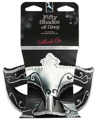 Fifty Shades of Grey Masquerade Masks Twin Pack (Official Collection)