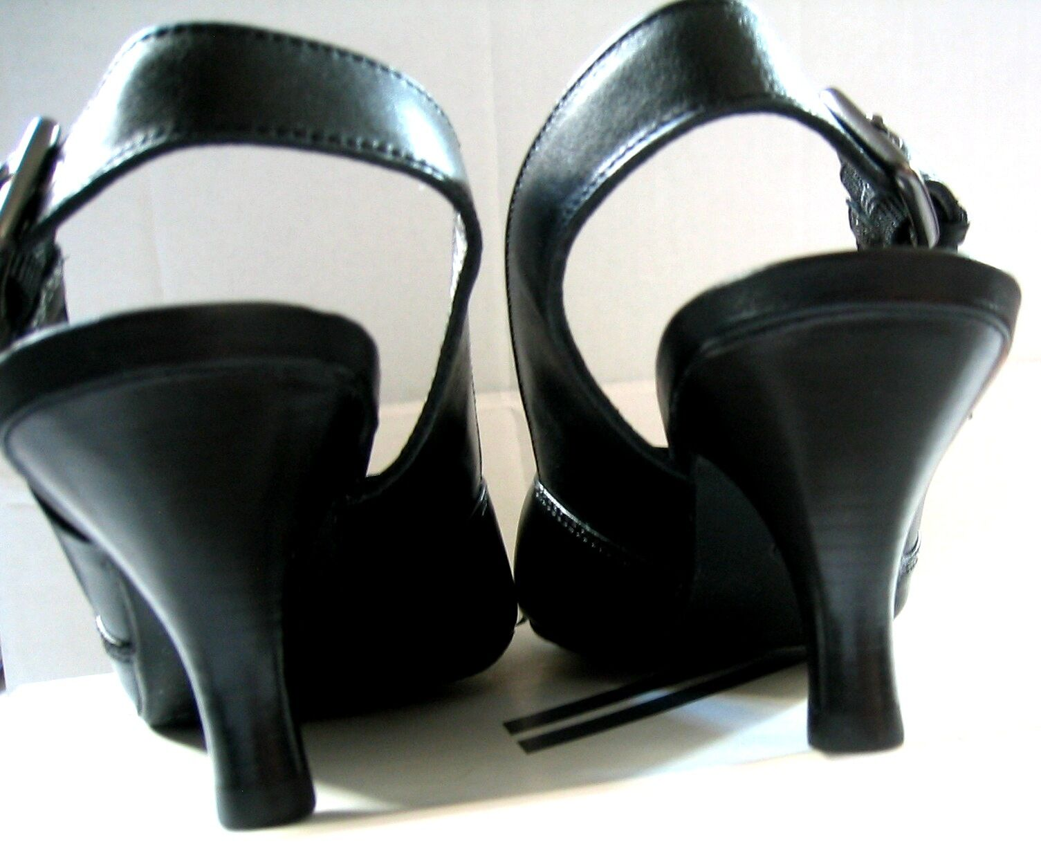 Daniel Hechter Pumps Sling back 37,5 Stiletto Echt Leder EUR 37,5 back UK 4,5 NEU schwarz 813cf9