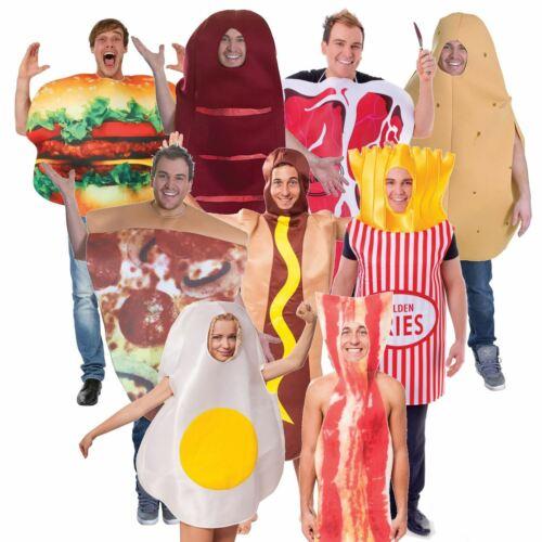 Adulte Homme Femme Drôle Stag Party Food comédie Fancy Dress Costume Outfit