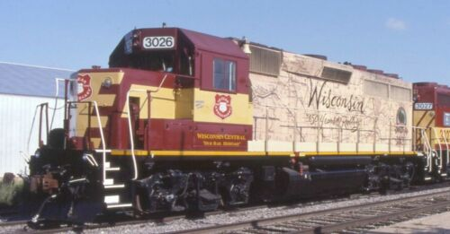 Wisconsin Central 3026 Anniversary GP-40 Map Decal G Scale