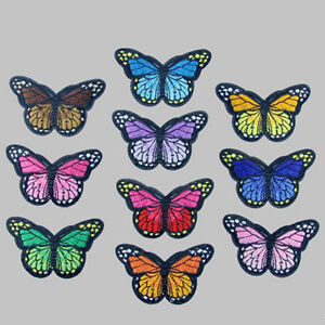 Lot-10-X-Embroidery-Butterfly-Sew-On-Patch-Badge-Embroidered-Fabric-Applique-DIY