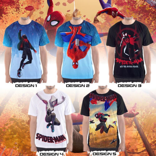 Spider-Man Custom T-Shirts Into the Spider-Verse Movie Jersey