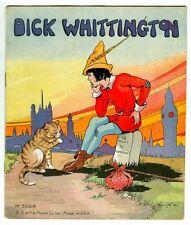Vintage 1934 DICK WHITTINGTON Children's Book! Eulalie Banks! Platt & Munk 3000B
