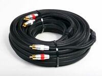 Atlona 7m 23ft Stereo Analog Audio Dual 2 Rca Cable - Premium Double Shielded on Sale
