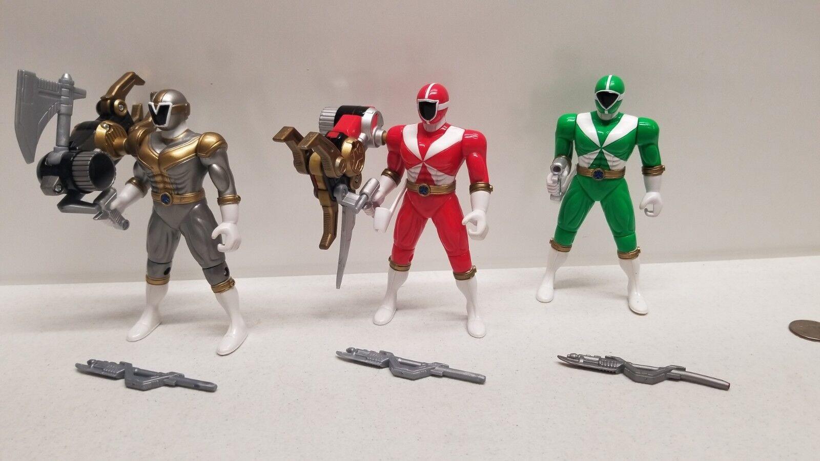 Power Ranger LIGHTSPEED Green - Red - Titanium RESCUE figures morpher megazord