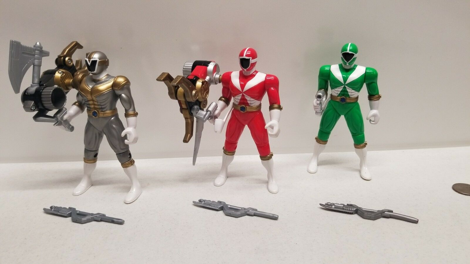 Power Ranger LIGHTSPEED Grün - rot - Titanium RESCUE figures morpher megazord