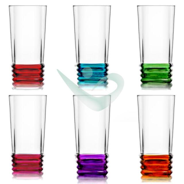 Longdrink Wasserglas Glas Trinkglas Bunte Cocktailglas Ebay