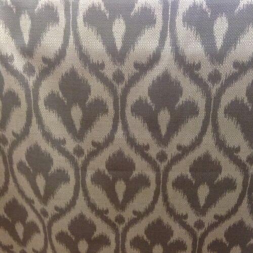 """IKAT Jeffy Gris//Avoine Bamboo /& LIN 140cm//54/"""" rideau//Craft Tissu Noir"""