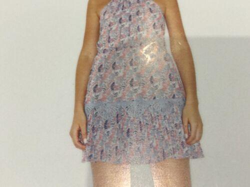 Nwt Floral 10 Franklyn Size Cotton Small 8 Ladies Foxiedox Mini Pink Uk Dress rOwUrAq