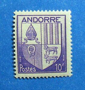 Stamps Andorra Generous 1944 Andorra French 10c Scott# 78 Michel # 95 Unused Nh Cs27304