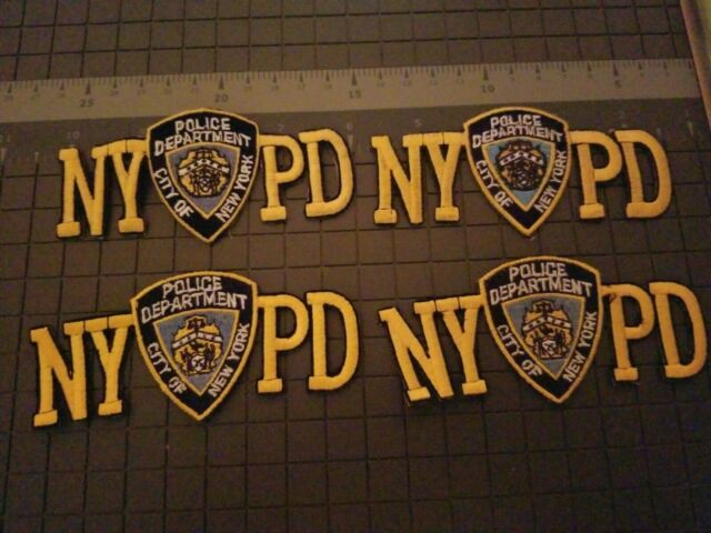 4- NYPD PATCHES  -VINTAGE  --4 Inches Long-- 2 Inches Wide--SEE STORE