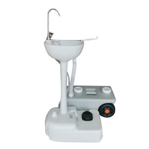 Outdoor portable hand washing sink faucet station w garden pipe joint water tank 651519345924 ebay for Portable watering tanks for gardens