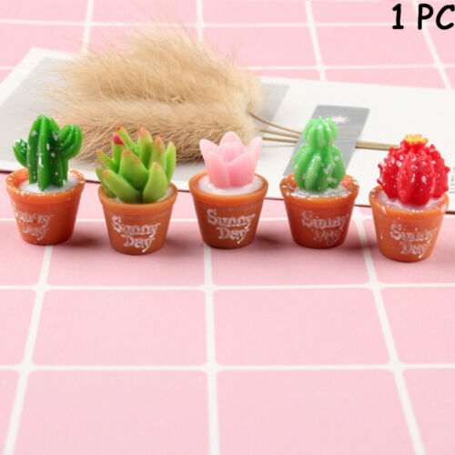 Crafts Resin Plants  Flower Miniature Cactus Bonsai Succulent Potted Figurines