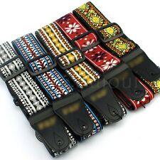5pcs Retro Folk Ajustable Guitar Strap Belt For Hippie Electric Bass Mandolin