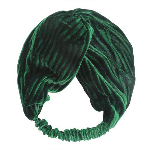 Ladies Velvet Turban Headband Hairband Twist Bow Knot Hair Accessories Head Wrap