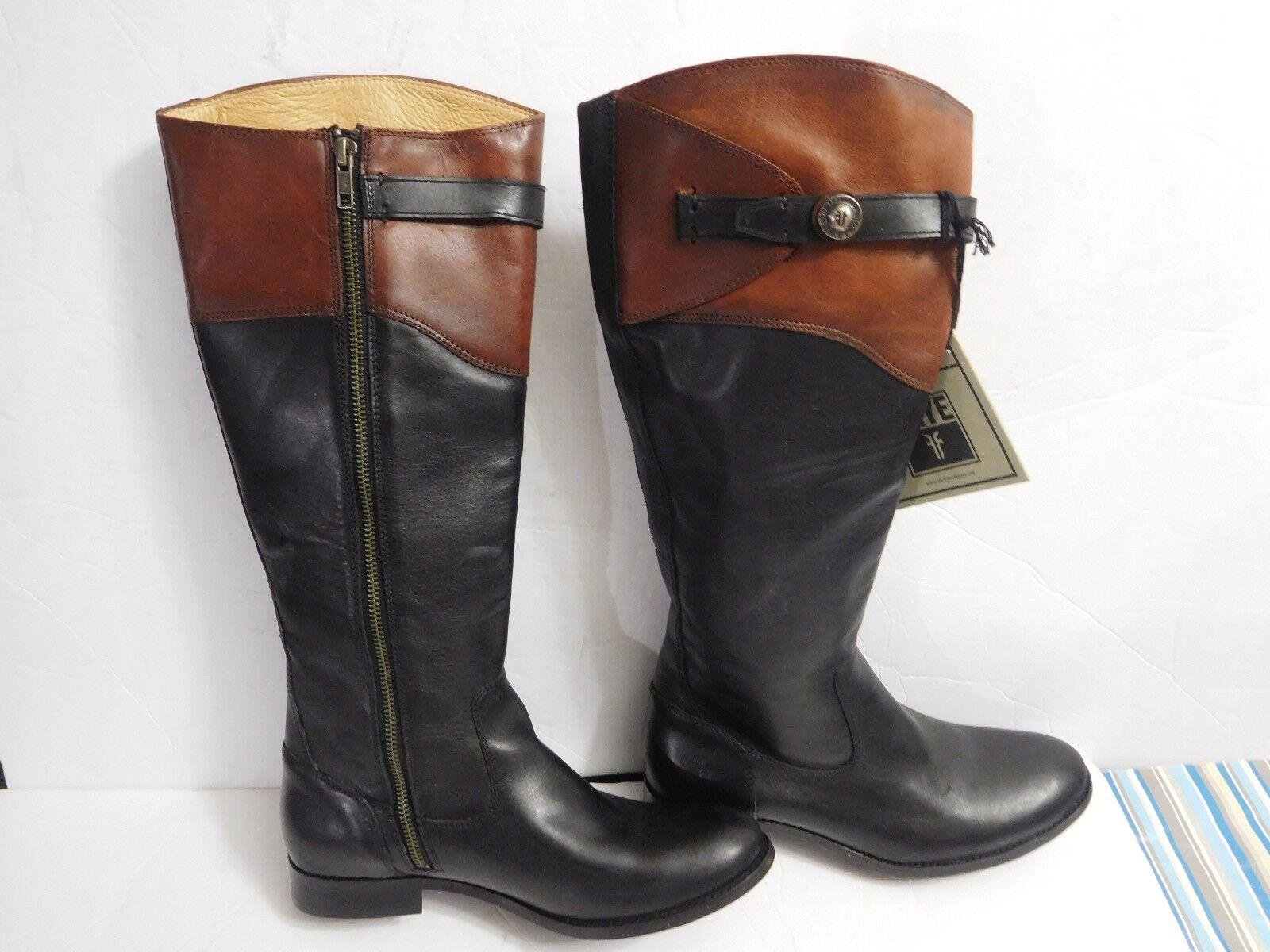 B-251 Women's Frye 'Molly Button' Tall Leather Riding Boots (Women) Sz 8 1/2 B