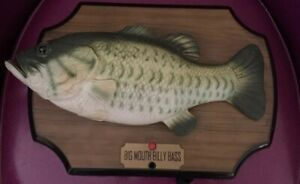 Gemmy-Big-Mouth-Billy-Bass-Animated-Singing-Fish-1999-Vintage-Working-Video