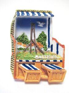 Baltrum-Strandkorb-Ostfriesland-3D-Poly-Fridge-Magnet-Souvenir-Germany