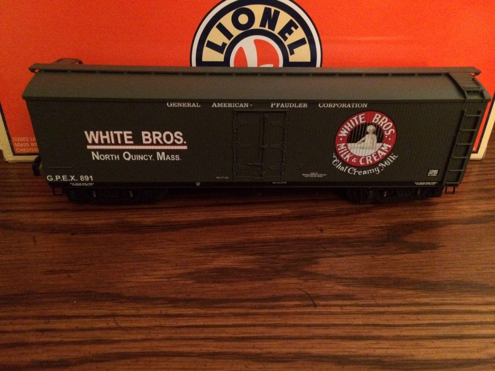 Lionel 17340 bianca Brothers Milk Car Nuovo in Box