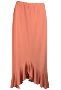 JANE-WIMMERS-Women-039-s-Front-Ruffle-Skirt-Polyester-Spandex-Orange-Size-M