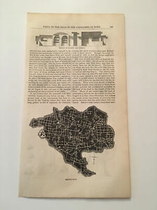K18-Harper-039-s-Monthly-Rome-Catacombs-Ground-Plan-Map-Original-1855-Engraving