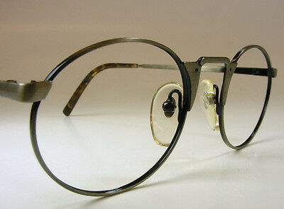 NOS Mossimo Industrial Goth Metal Vtg Eyeglass Spectacle Frame Pewter MED 47-24
