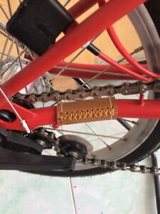 Brompton Bicycle Carbon Rear Triangle Guard Swingarm Frame Protector