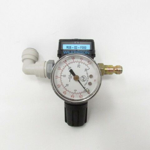 NPT,44 cfm,300 psi WILKERSON R08-02-F000 Air Regulator,1//4 In