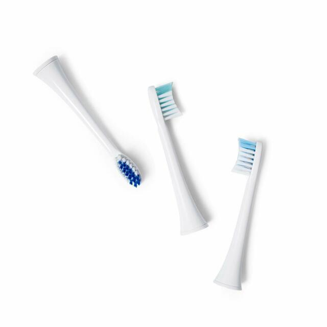 Dazzlepro 3-Piece Set Replacement Toothbrush Heads for Elements - Small